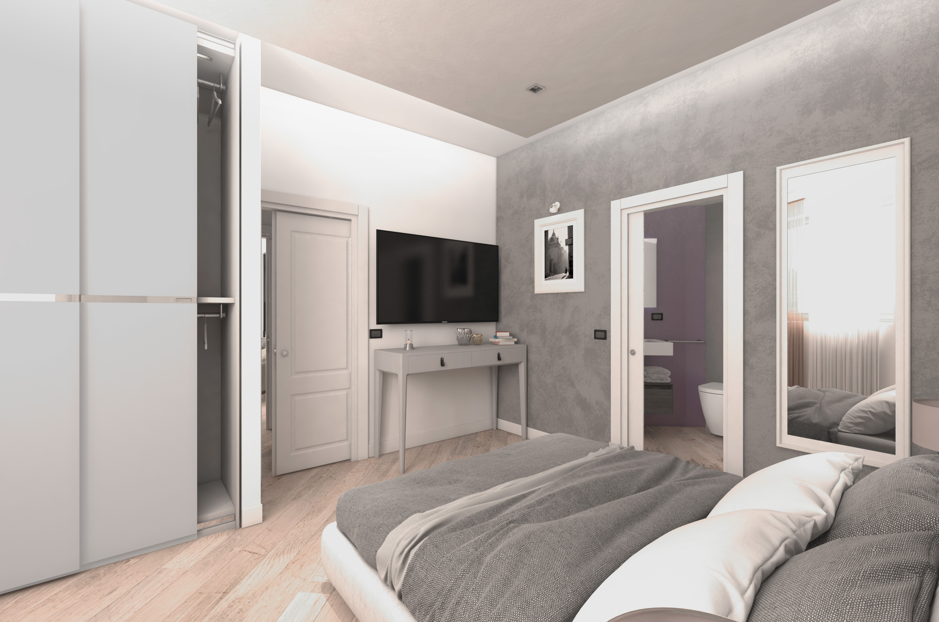 Home staging virtuale roma zona vaticano virgo design render - Home staging bagno ...